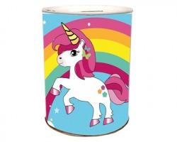Unicorni Salvadanaio in latta 11 x 13cm