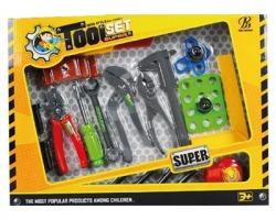Gioco Attrezzi da lavoro toolset da 18pz, gioco sicuro, dai 3+