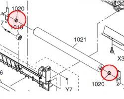 Panasonic DZLM000132 Boccole rullo inferiore compatibile (kit 1x2)