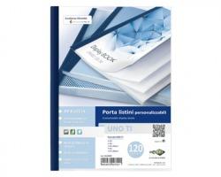 Sei 55229907 Uno ti - Porta listini blu 22x30cm con 120 buste in pp buccia, copertina e retro personalizzabili - 1pz