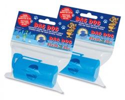 Bag Dog porta sacchetti + Rotolo da 20 sacchetti igienici profumati salvagoccia, misura 25x35 capacità 4l