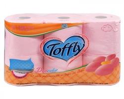 Toffly Duocolor rosa Carta igienica colorata a 3 veli conf. da 6 rotoli, 180 strappi