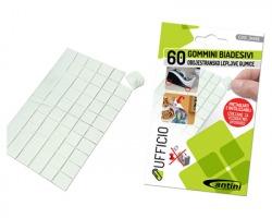 Gommini biadesivi quadrati pretagliati e riutilizzabili - 60pz