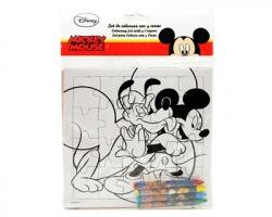 Disney Topolino Puzzle da colorare + 4 pastelli a cera inclusi