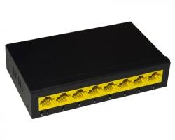 Link Switch 8 porte Gigabit 10/100/1000 Mbps, desktop, case in metallo
