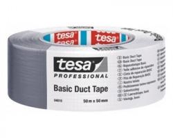 Tesa 4610-00001-00 Nastro telato universale basic duct tape, misure 50mm x 25m, colore grigio