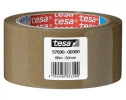 Tesa 57690 Basic - nastro in pp con adesivo hot melt, silenzioso, 66m x 50mm - confezione 6pz