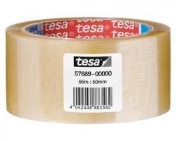 Tesa 57689 Basic - nastro in pp con adesivo hot melt, silenzioso, 66m x 50mm - confezione 6pz