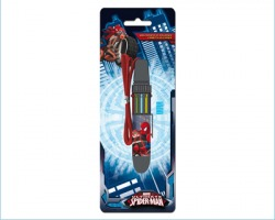 Spiderman Penna a 10 colori con cordino in blister