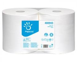 Papernet 400943 Bobina puliunto in pura cellulosa a 2 veli da 18gr, microgoffrata, 844 strappi 25,8 x 25cm, conf.2pz
