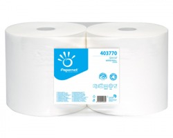 Papernet 403770 Bobina puliunto in pura cellulosa a 2 veli da 21gr con goffratura a onda, 800 strappi conf. 2pz