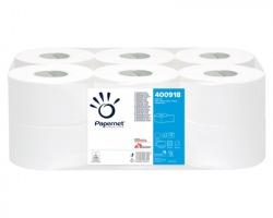 Papernet 400918 Carta igienica 1 strappo mini jumbo, 152m, microgoffrata, diametro totale 19.50cm, confezione
