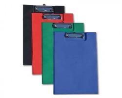 Porta blocco doppio, rivestito in pp, colore blu - 1pz