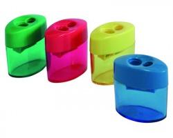 Temperamatite in plastica a 2 fori c/serbatoio - 1pz