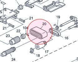 Ricoh B3512222 Paper Feed Belt originale