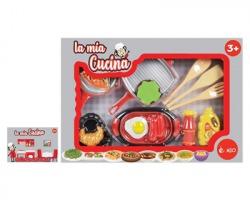 """Gioco """"La mia cucina"""" kit utensili da 14pz misure 43 x 6 x 30cm"""