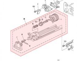 Ricoh B027-3501 (a2673501) Unita' Tramoggia Toner (toner Hopper Unit)