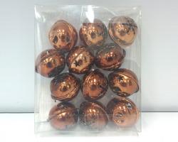 Campanelle in metallo color rame, 4mm, in scatola pvc, conf, da 12pz