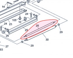 Ricoh G7902329 Brush roller cleaning originale (B0822329)