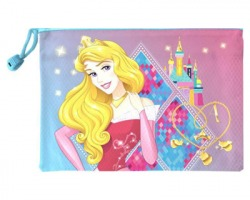 Disney Principesse bustina portatutto con zip, misure 19x26 cm