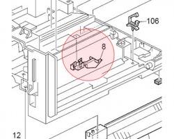 Ricoh B0445300 Paper end sensor originale