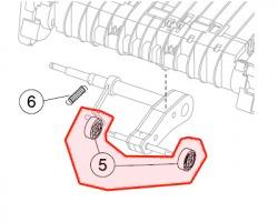 Lexmark 56P1820 Kit 1x2 Paper feed rubber tires originale (gommino presa carta)