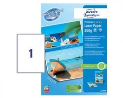 Avery 2798 Carta bianca fotografica patinata extra glossy A4 200gr/mq, conf. da 100ff