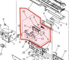 Konica Minolta A02ER71700 Separation roller assy originale