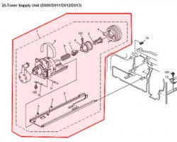 Ricoh D0093209 Toner supply unit originale