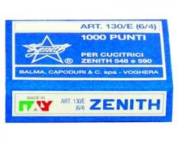 Zenith 0311301401 Scatola di 1.000 punti 130e in acciaio (6/4) conf. 10pz