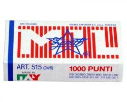 Zenith 0305151601 Scatola di 1.000 punti 515 in acciaio (24/6) conf. 10pz