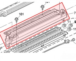 Ricoh B0393159 Case development roller assy originale
