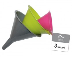 Imbuto in plastica in blister da 3pz, colori assortiti