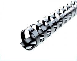 Gbc Ibico 4028173 Dorsi plastici neri 21 anelli dorso 6mm - conf. 100pz