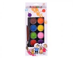 Colori acquerelli in box grandi, 12 colori