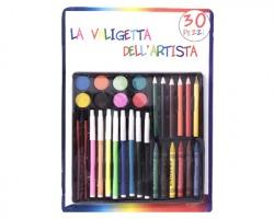 """Kit """"La valigetta dell'artista"""" da 30pz, misura 21x30cm, in blister"""
