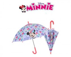 Disney Minnie Ombrello manuale, 38cm, lilla
