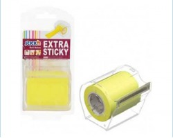 Dispenser roll notes 50mm x 10m 1pz - giallo neon