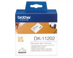 Brother DK11202 - 300 etichette adesive 62mm x 100mm BK/WH 1pz
