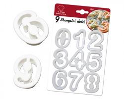 Stampini per dolci e biscotti a forma di numero, 9pz