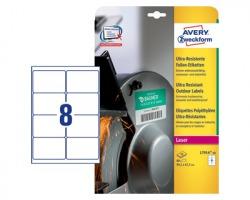 Avery L7914-10 Etichette in polietilene bianche permanenti 99.1 x 67.7mm - conf. 10ff