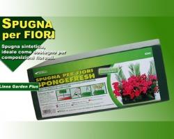 Spugna per fiori verde, ideale per sostegno di composizioni floreali, pratica e riutilizzabile
