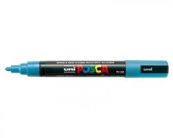 Uni-Posca MPC5MAZ Marcatore AZZURRO punta conica 2,5mm