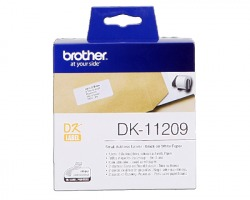 Brother DK11209 - 800 etichette adesive 29mm x 62mm BK/WH 1pz