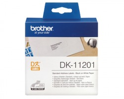 Brother DK11201 - 400 etichette adesive 29mm x 90mm BK/WH 1pz
