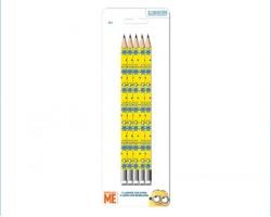 Minions blister da 5 matite con gomma