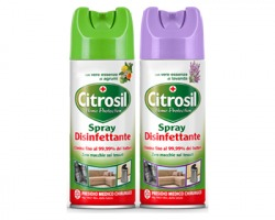 Citrosil Home protection Spray Disinfettante da 300ml, elimina il 99,9% di germi e batteri, con pr.medico chirurgico