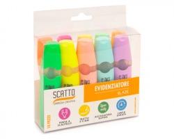 Scatto 5010-ASS Confezione da 10 evidenziatori colori fluo e pastello assortiti