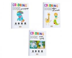 Scatto 983 Album da colorare 12ff in 3 design assortiti - 1pz