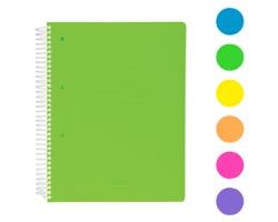 Scatto 974-5 Quaderno con spirale 70 fogli, quadretto 5mm, colori fluo assortiti